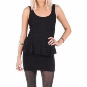 Volcom Black peplum Dress size Medium